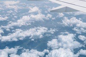 Fun Clouds under Airplane Wing