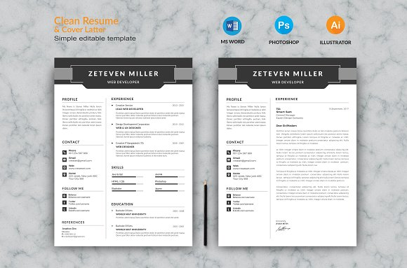 Sample Resumes For Administrative Assistant Word Resume  Resume Templates  Creative Market Sample Of A Cover Letter For Resume Pdf with Free Resume Samples Excel Resume  Resumes Objective For Resume Customer Service Word