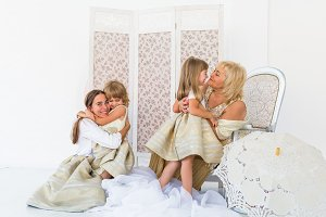 Grandma, mother and daughters