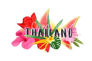 "Floral collage "" Thailand"""