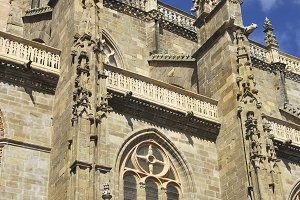Side view of cathedral of Astorga