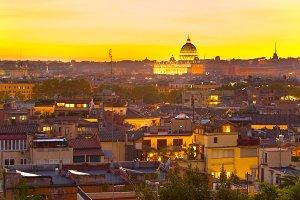 Beautiful Rome at twilight. Italy