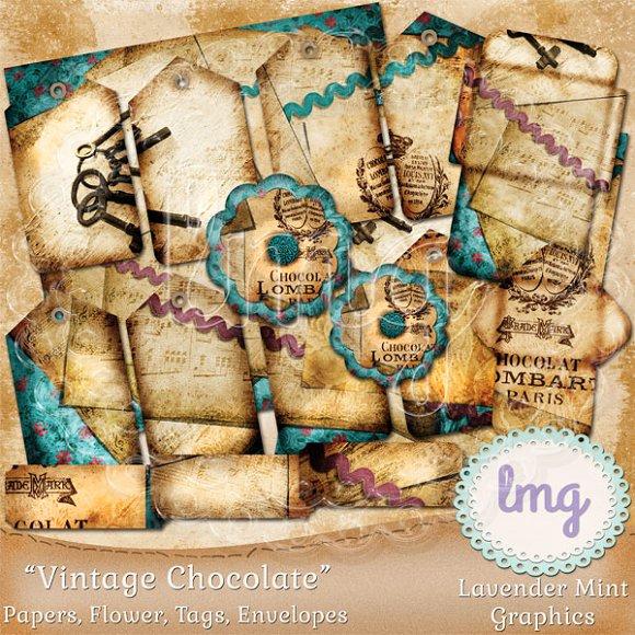 Vintage Chocolate Junk Journal Kit