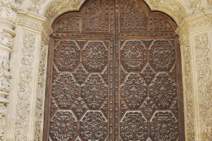 Astorga Cathedral door