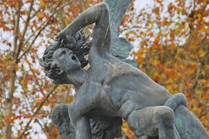 Fallen Angel statue, Madrid, Spain