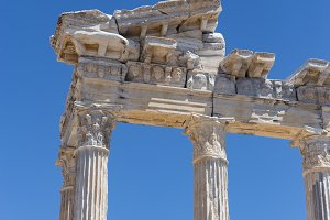 Temple of Apollo in ancient Side in Turkey