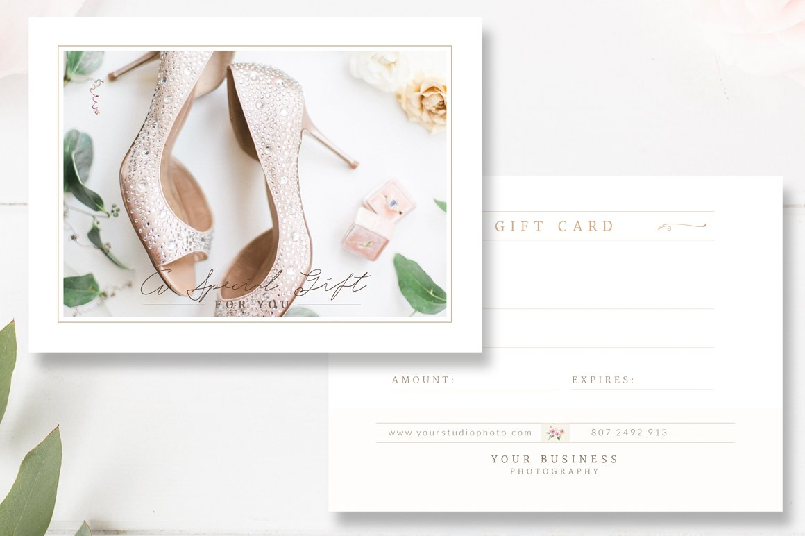 Photographer Gift Card Template Card Templates on Creative Market – Photography Gift Certificate Template