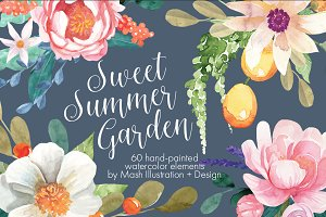 Sweet Summer Watercolor Graphic Pack
