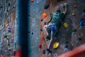 Rock Climber in The Zone