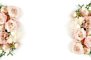 Beige pastel roses