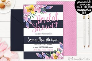 Navy and Pink Bridal Shower