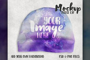 Fleece Baby Cap Mockup