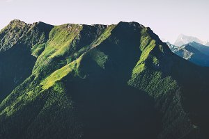 Green Mountains forest Landscape