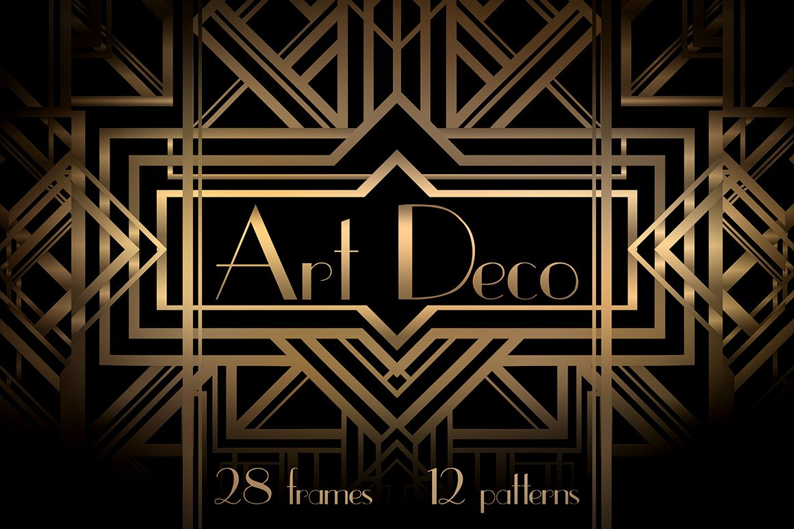 Art deco frames and patterns graphic patterns creative for Design art deco