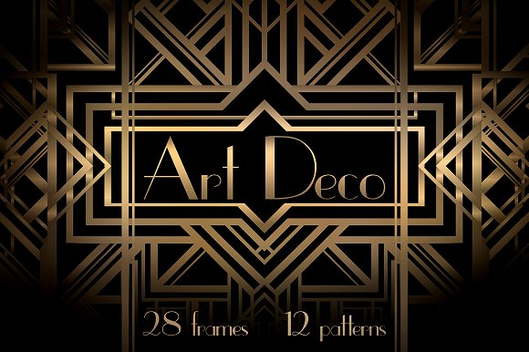 Art Deco Frames and Patterns - Patterns