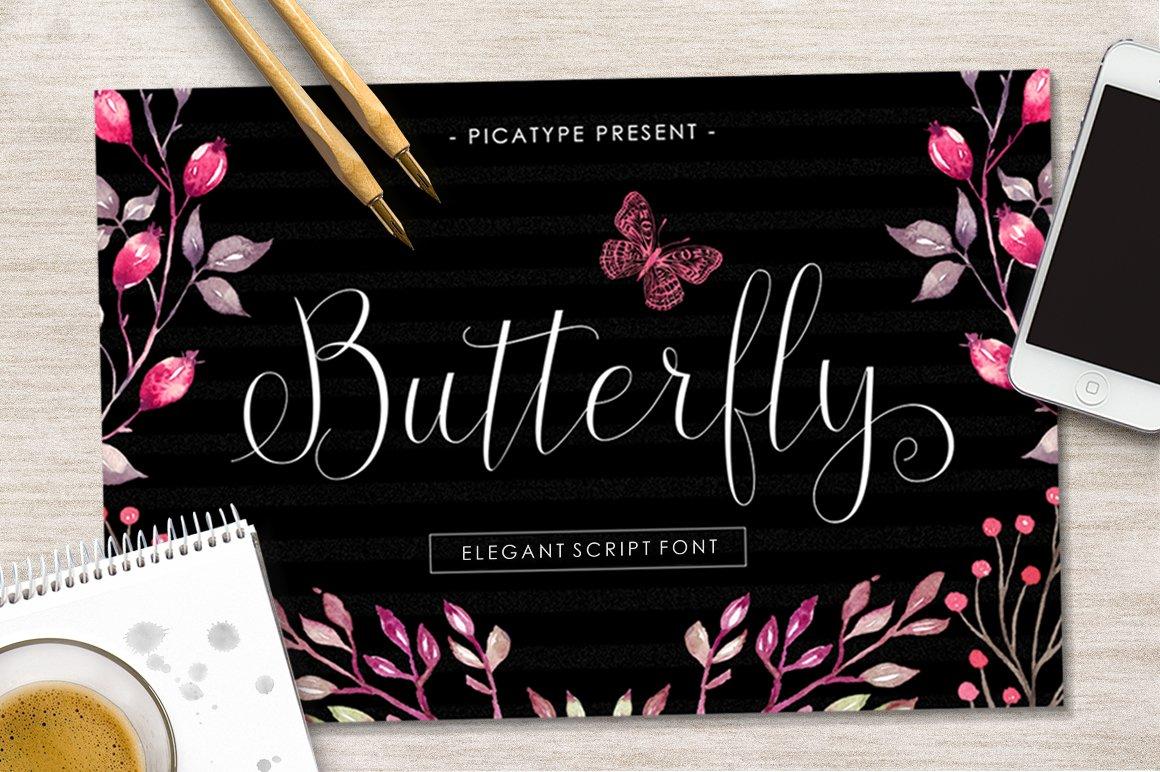 Butterfly Script Fonts Creative Market