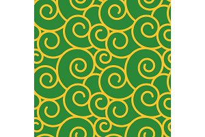Vector twirl damask vintage seamless pattern background.