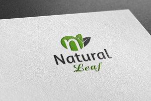 Natural Leaf Style Logo