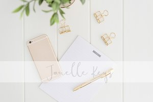 Gold Phone and Stationery