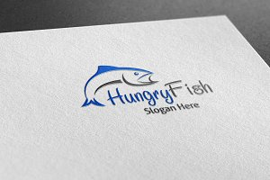 Hungry Fish Style Logo