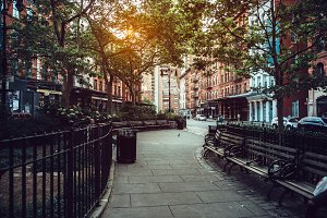 city street park in New York