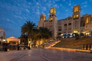 Madinat Jumeirah district at night