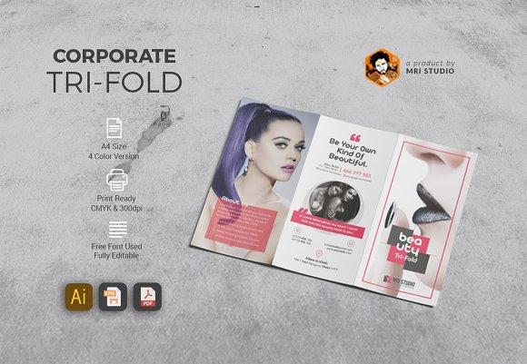 beauty tri fold brochure