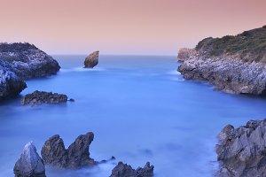 Buelna beach in Asturias.