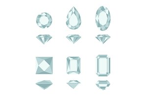 Diamond and gemstone shapes.