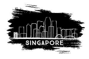 Singapore Skyline Silhouette.