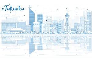 Outline Fukuoka Skyline