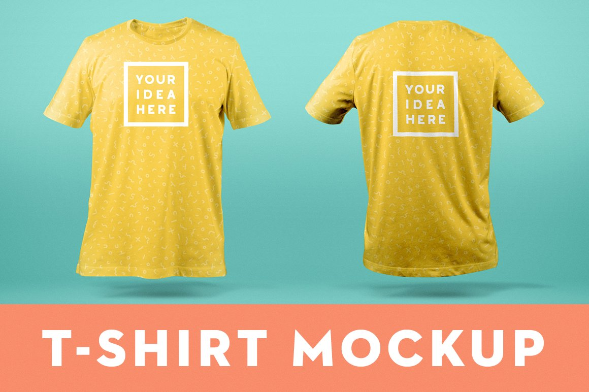 Download T-Shirt Mockup Template Front & Back   Creative Product ...