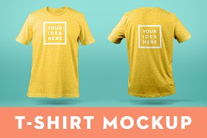 T-Shirt Mockup Template Front & Back