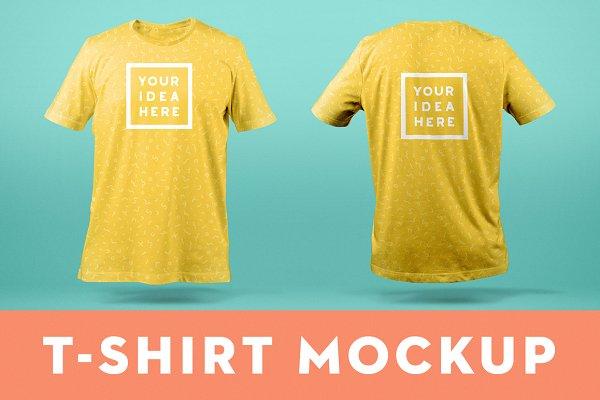 T-Shirt Mockup TemplateFront & Bac…