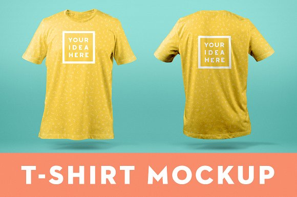T Shirt Mockup Template Front Back