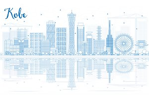 Outline Kobe Skyline