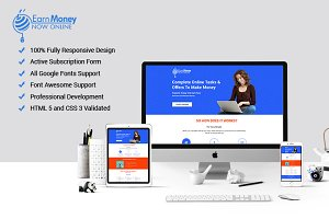 Money Earn Template with Builder