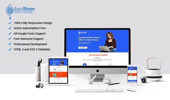 Money earn template with builder website templates creative market money earn template with builder websites maxwellsz