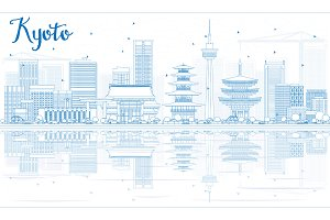 Outline Kyoto Skyline