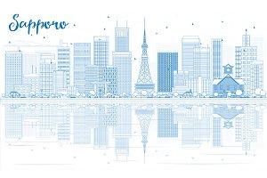 Outline Sapporo Skyline