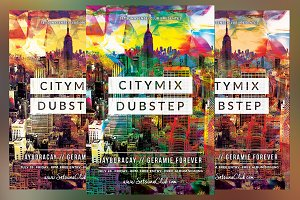 City Mix Dubstep Flyer