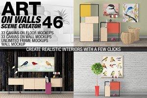 Canvas Mockups - Frames Mockups v 46