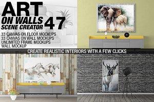 Canvas Mockups - Frames Mockups v 47