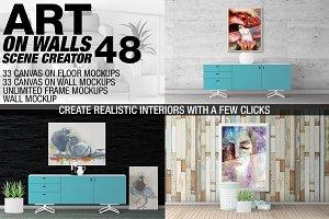 Canvas Mockups - Frames Mockups v 48