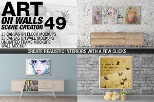 Canvas Mockups - Frames Mockups v 49