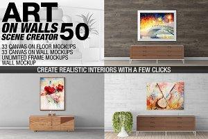 Canvas Mockups - Frames Mockups v 50
