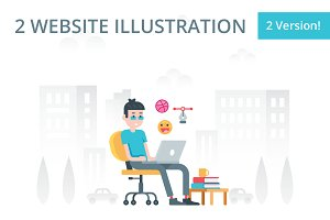 Designer and Programmer illustration