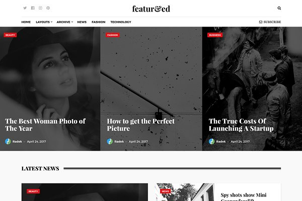 WordPress Magazine Themes: Theme Junkie - Featured WordPress Theme