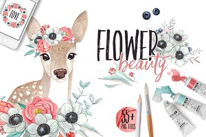 FLOWER BEAUTY watercolor set