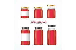 Glass Jar Template Set